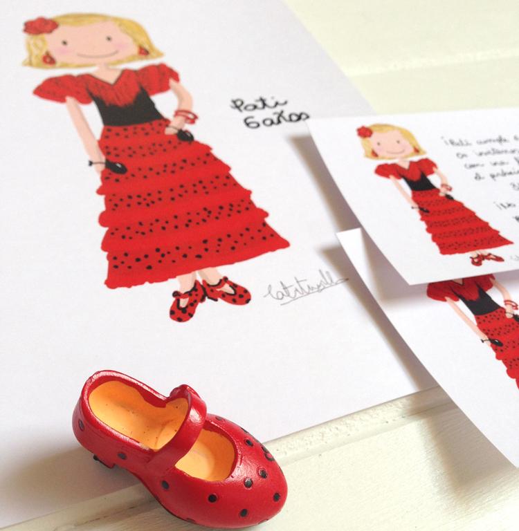 Cumpleanos feliz por flamenco