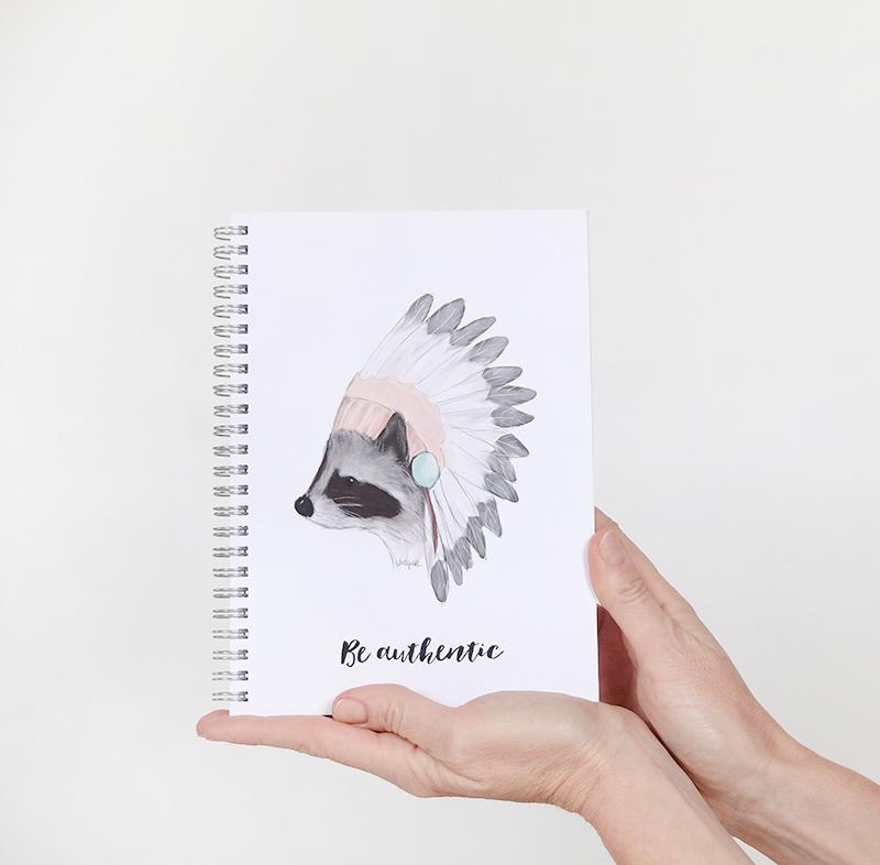 cuaderno baby mapache