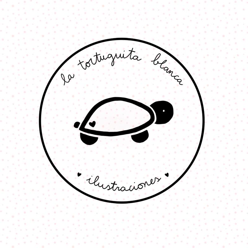 sello PERSONALIZADO la tortuguita blanca