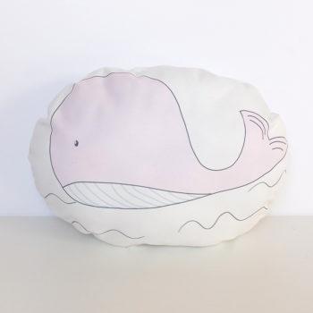 cojin ballena rosa