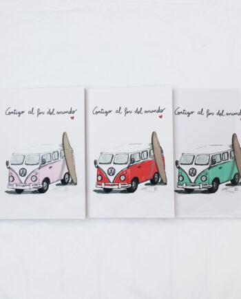 cuaderno furgo en tres colores