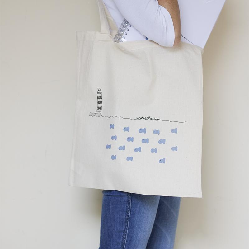 tote bag under the sea