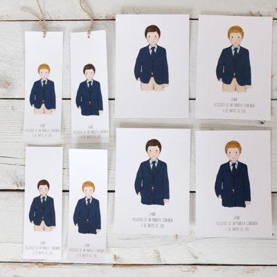 Modelo comunion niño colección GONZALO. Puedes elegir el color de pelo, el color de la corbata y el color del pantalón.
