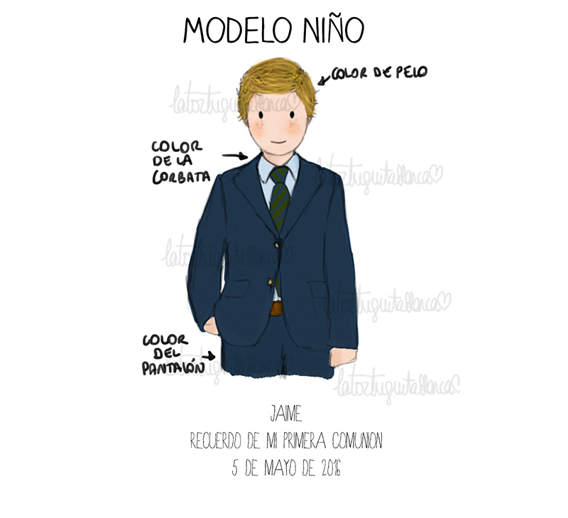 Modelo comunion niño colección GONZALO