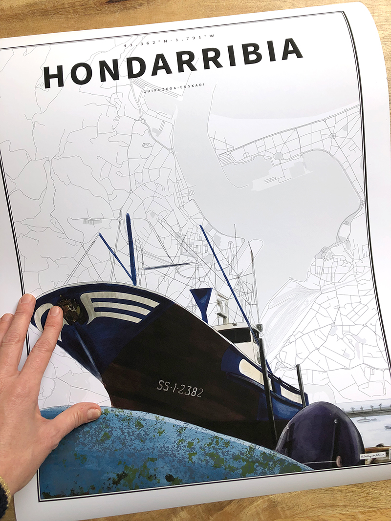 Coordenadas ilustradas personalizadas.Elige la ciudad, pueblo o rincón que te guste, te la ilustramos y la situamos en su coordenada.