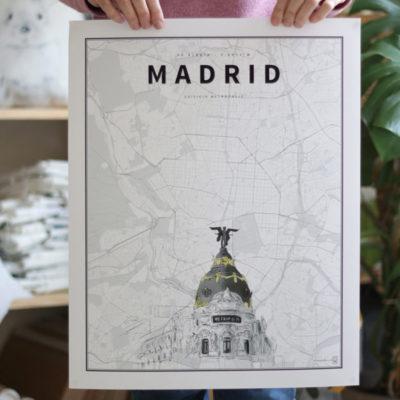 Madrid Coordenadas Ilustradas