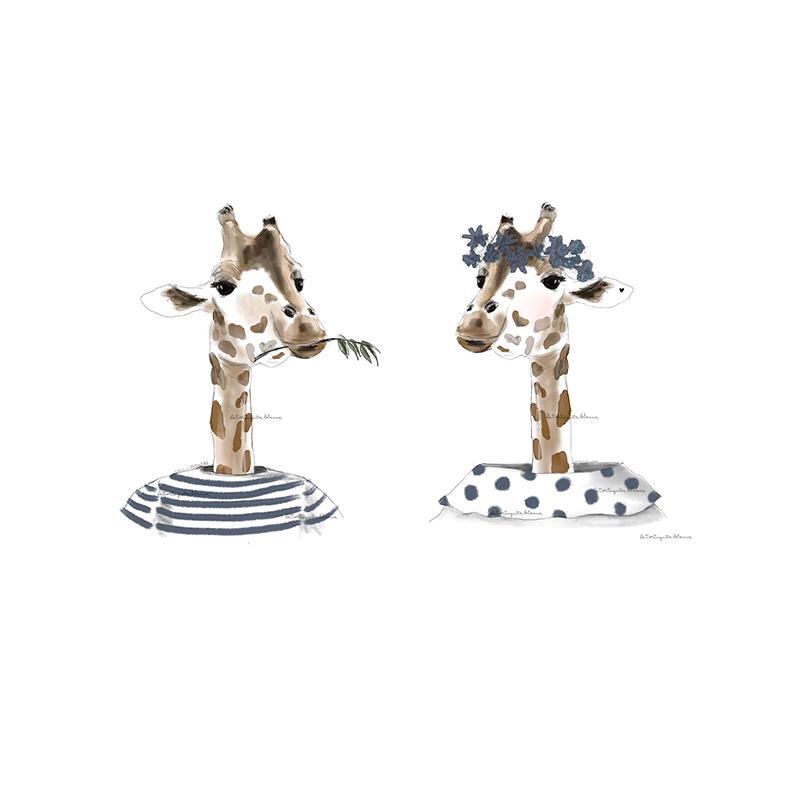 Lord and Lady jirafa marineros juntos