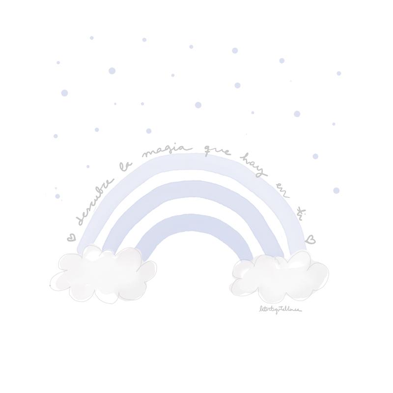 arcoiris azul