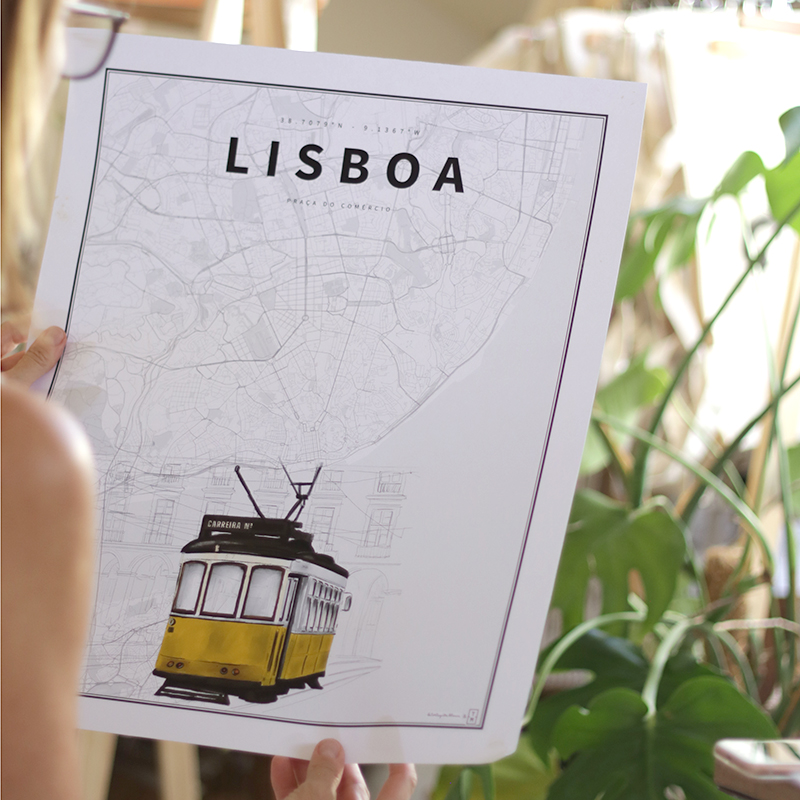 Lisboa. Coordenadas Ilustradas.
