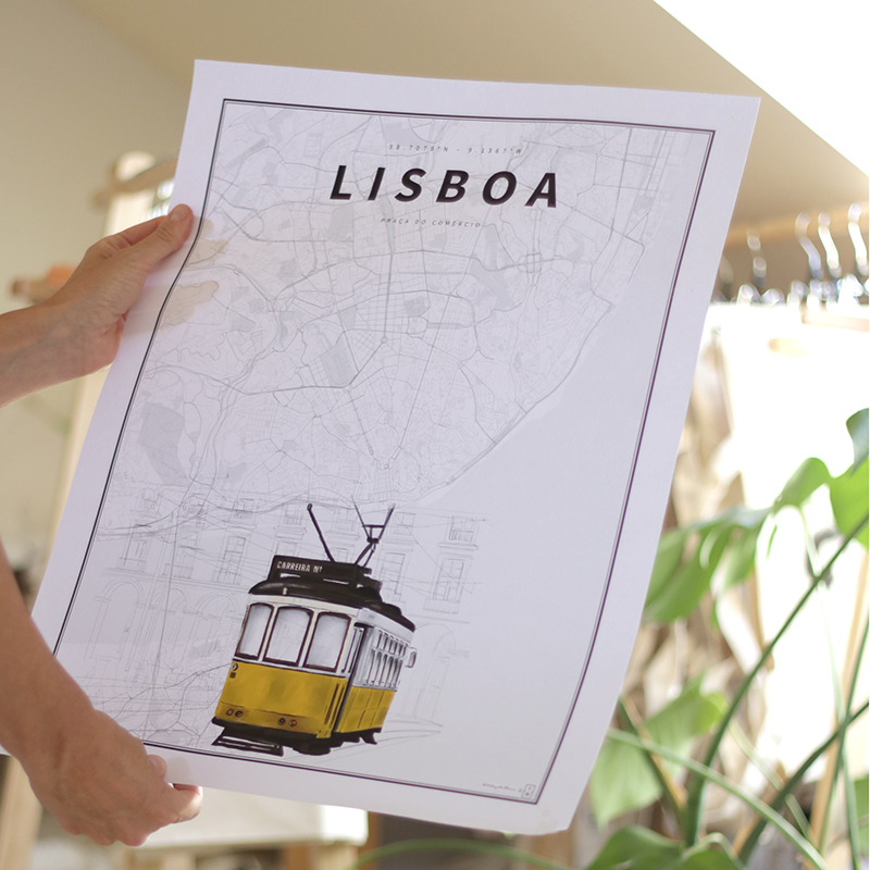 LISBOA COORDENADAS ILUSTRADAS