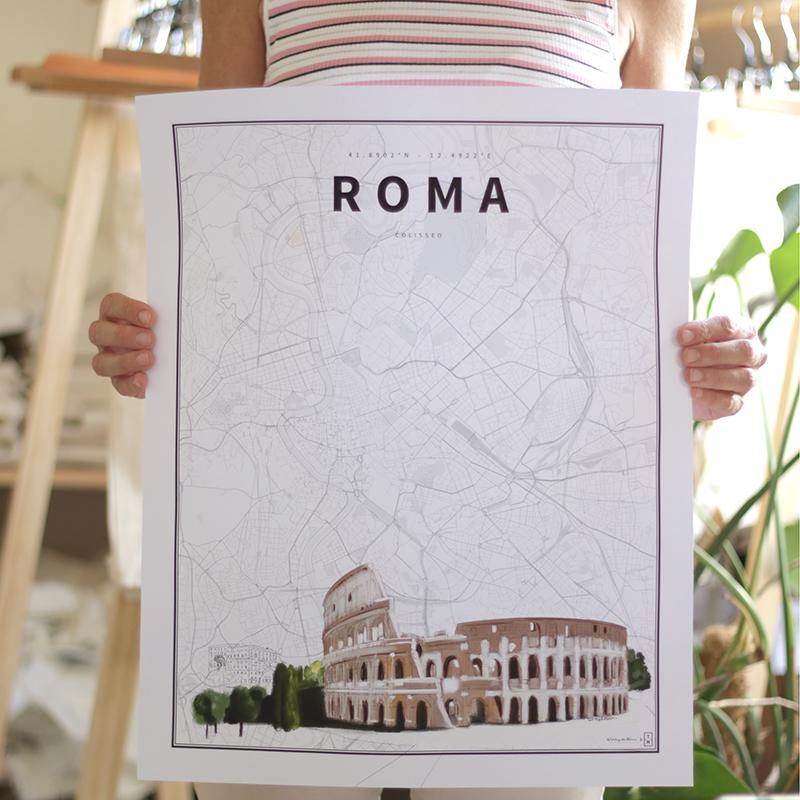 Roma. Coordenadas ilustradas