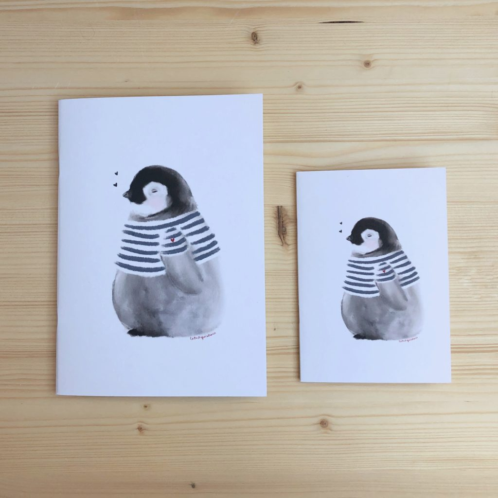libreta pingüino BOLITA marinero