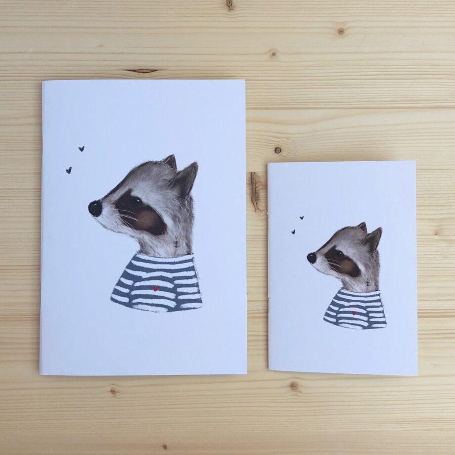 libreta baby mapache marinero