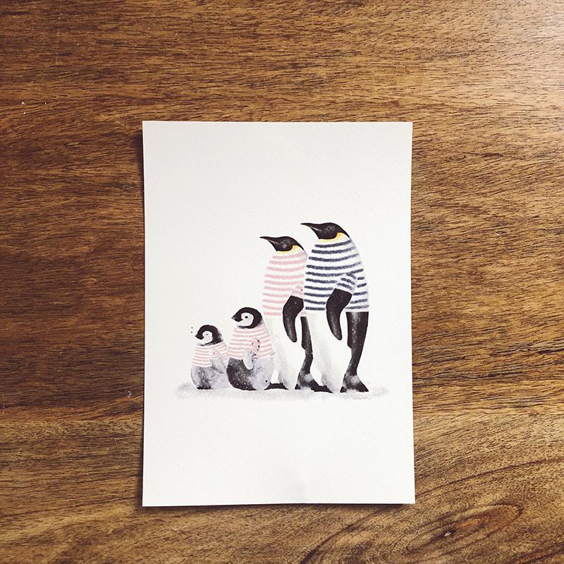 familia pinguino vertical