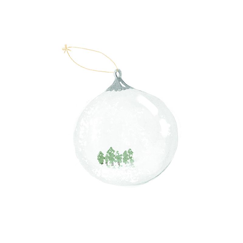 bola de navidad de la tortuguita blanca