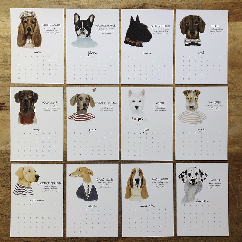 calendario 2019 mis perros favoritos