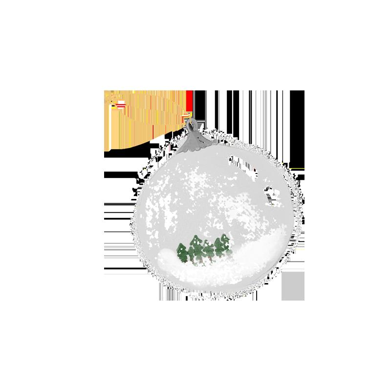 bola navidad de cristal de la tortuguita blanca