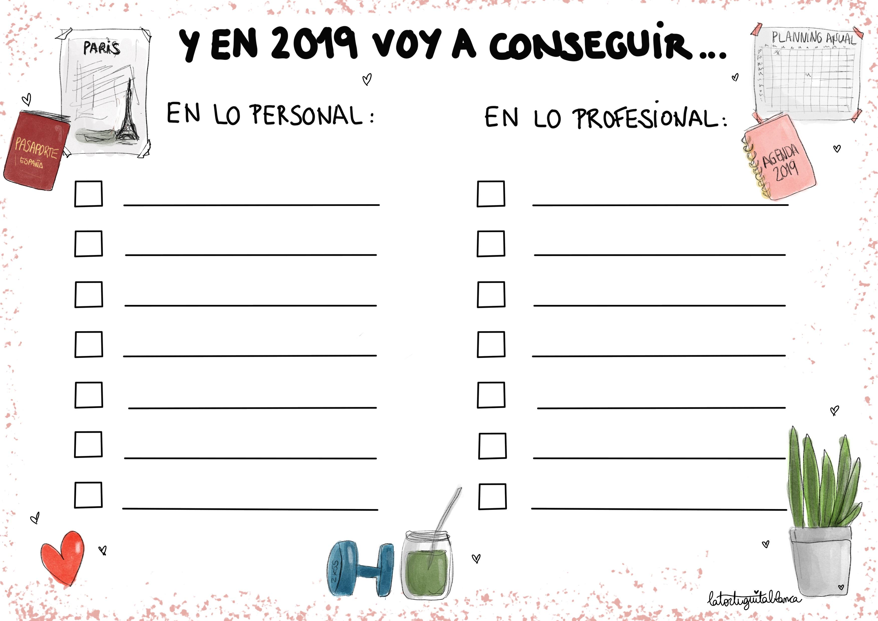 Mis propositos para 2019 by La Tortuguita Blanca