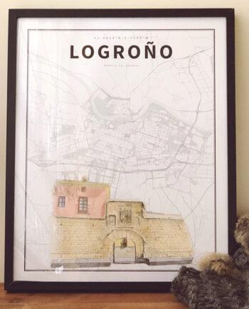 Lámina coordenadas ilustradas: Logroño