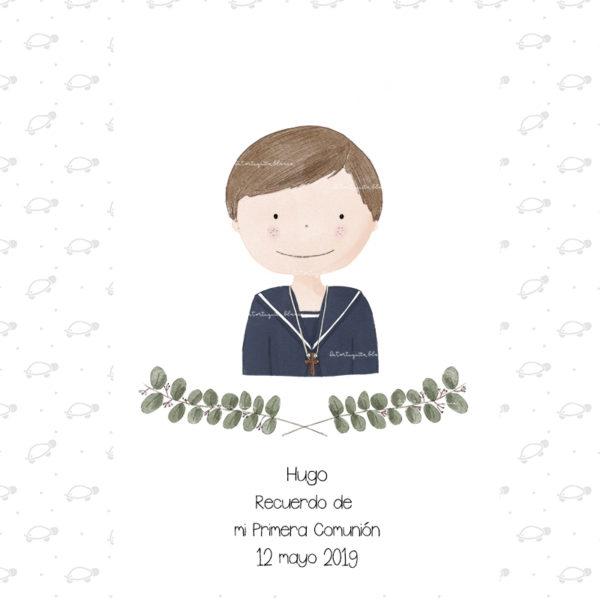 Recordatorios Primera Comunión Niño Colección Hugo