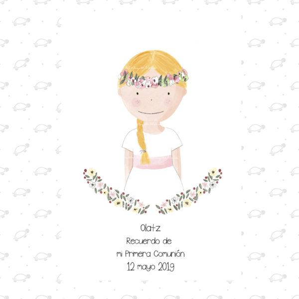 Recordatorios Primera Comunión Niña Colección Olivia