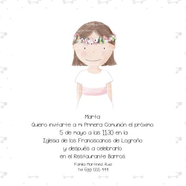 Invitaciones Primera Comunión Niña Colección Olivia