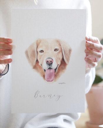 Retrato de tu mascota. Una ilustración personalizada para tener enmarcada en cualquier lugar de la casa. Ideal para hacer un precioso REGALO