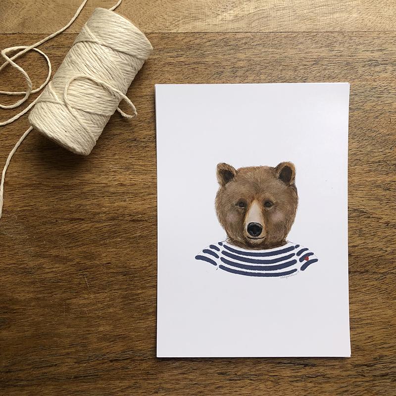 oso marinero azul
