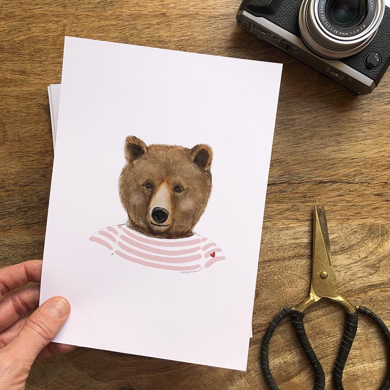 oso marinero rosa