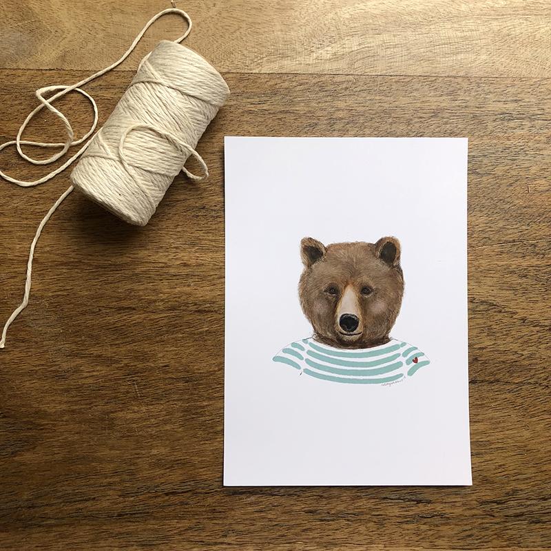 oso marinero verde