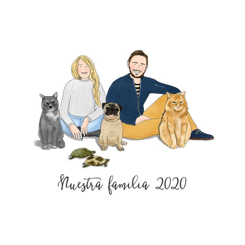retrato-ilustrado-familia