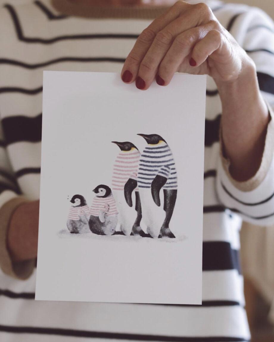 familia pinguino