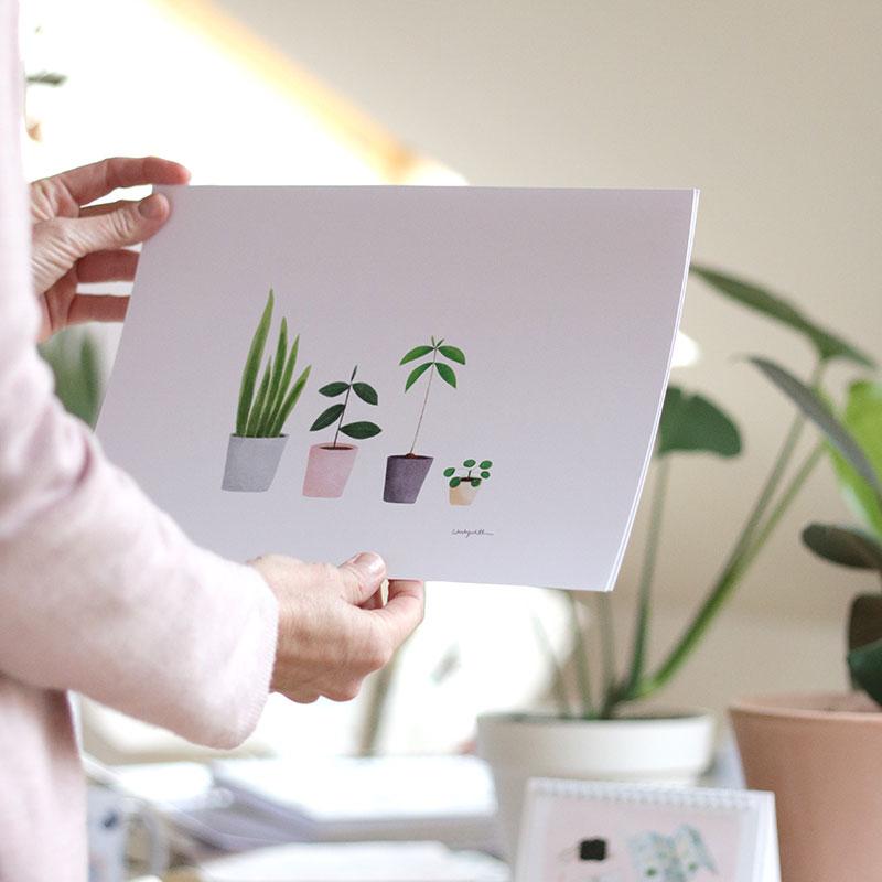 lámina decorativa MY LOVELY PLANTS. Una lámina ideal para decorar con estilo nórdico