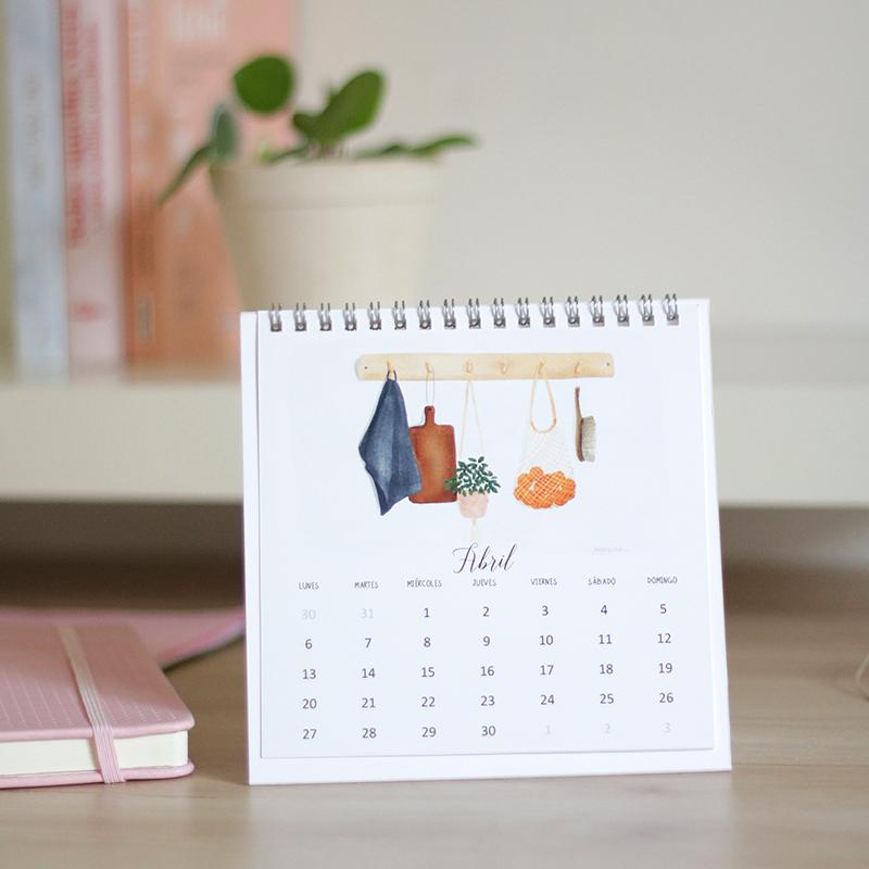 Calendario 2020 sobremesa