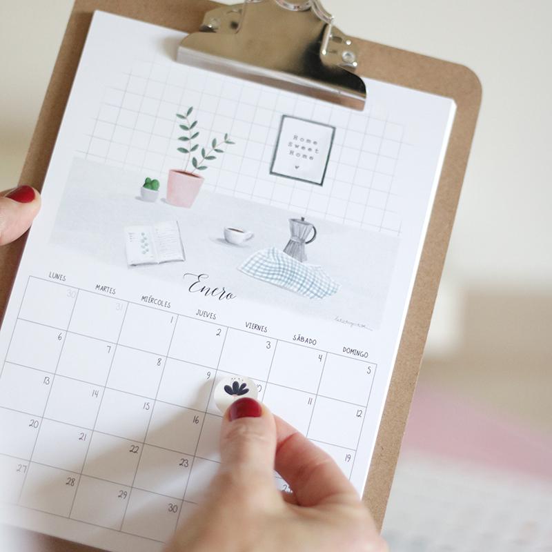 calendario 2020 con clipboard