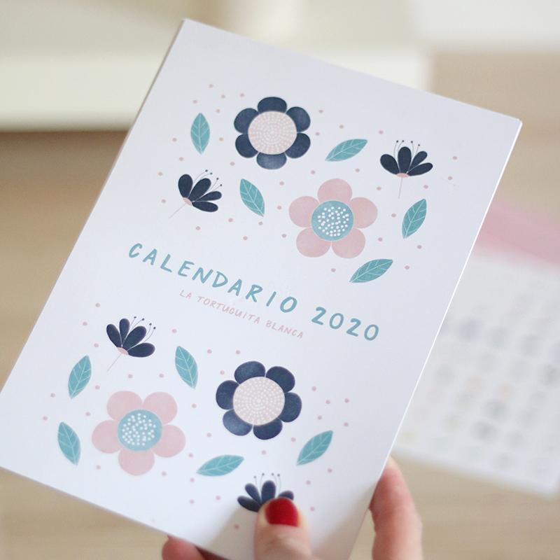calendario 2020 ilustrado por La Tortuguita Blanca. Preciosas ilustraciones