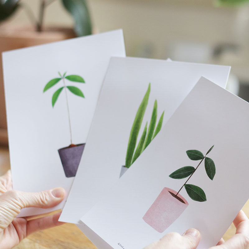 Pack de láminas My Lovely Plantas. Pack de 2 o 4 láminas. Tamaño A5
