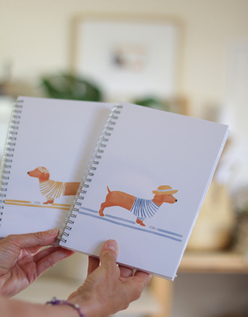 cuaderno-perro-salchicha