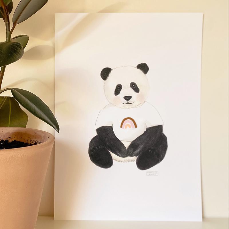lamina-oso-panda-arcoiris