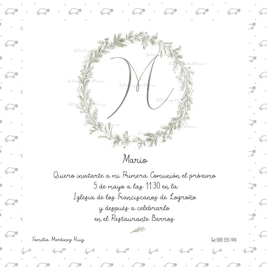 INVITACION PRIMERA COMUNION INICIAL