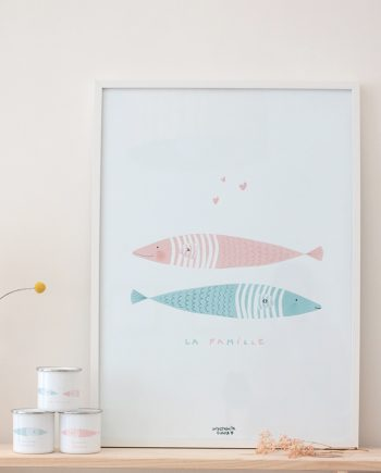 lamina LA FAMILLE. Colección SARDINAS